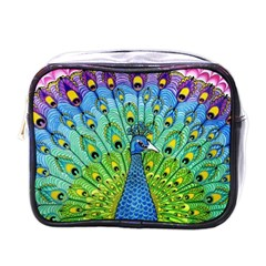 Peacock Bird Animation Mini Toiletries Bags by Simbadda