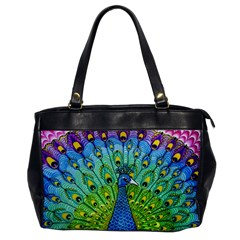Peacock Bird Animation Office Handbags by Simbadda