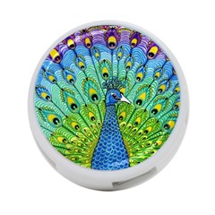 Peacock Bird Animation 4 Port Usb Hub (one Side) by Simbadda