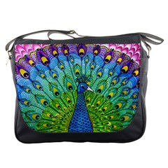 Peacock Bird Animation Messenger Bags by Simbadda