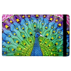 Peacock Bird Animation Apple Ipad 2 Flip Case by Simbadda