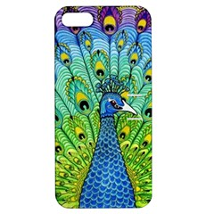 Peacock Bird Animation Apple Iphone 5 Hardshell Case With Stand by Simbadda