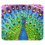Peacock Bird Animation Double Sided Flano Blanket (Small)  50 x40 Blanket Back