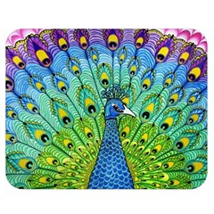 Peacock Bird Animation Double Sided Flano Blanket (medium)  by Simbadda