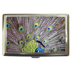Peacock Bird Feathers Cigarette Money Cases by Simbadda