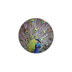 Peacock Bird Feathers Golf Ball Marker (10 Pack) by Simbadda