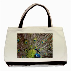 Peacock Bird Feathers Basic Tote Bag (two Sides)