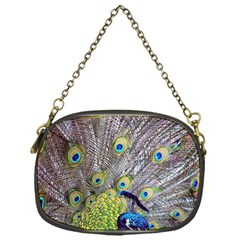 Peacock Bird Feathers Chain Purses (one Side)  by Simbadda