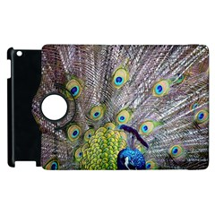 Peacock Bird Feathers Apple Ipad 2 Flip 360 Case by Simbadda