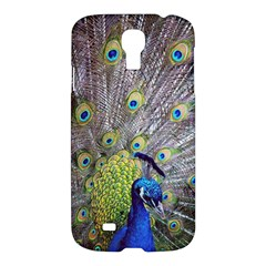 Peacock Bird Feathers Samsung Galaxy S4 I9500/i9505 Hardshell Case by Simbadda