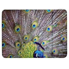 Peacock Bird Feathers Samsung Galaxy Tab 7  P1000 Flip Case by Simbadda