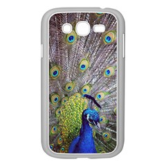 Peacock Bird Feathers Samsung Galaxy Grand Duos I9082 Case (white) by Simbadda