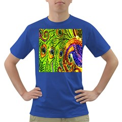 Peacock Feathers Dark T Shirt by Simbadda