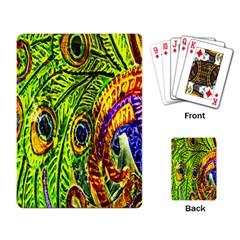 Peacock Feathers Playing Card by Simbadda