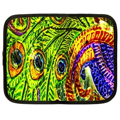 Peacock Feathers Netbook Case (xl)  by Simbadda