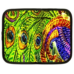 Peacock Feathers Netbook Case (xxl)  by Simbadda