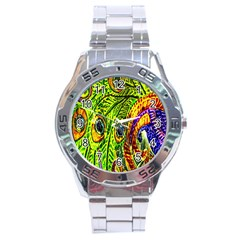 Peacock Feathers Stainless Steel Analogue Watch by Simbadda