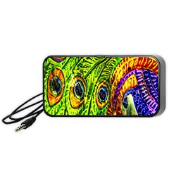 Peacock Feathers Portable Speaker (black) by Simbadda