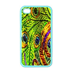 Peacock Feathers Apple Iphone 4 Case (color) by Simbadda