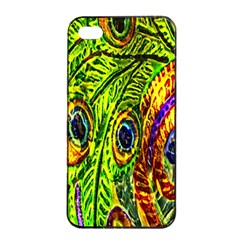 Peacock Feathers Apple Iphone 4/4s Seamless Case (black) by Simbadda