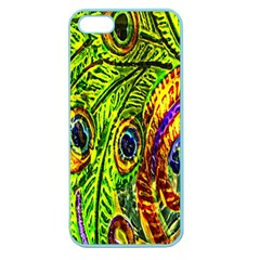 Peacock Feathers Apple Seamless Iphone 5 Case (color) by Simbadda