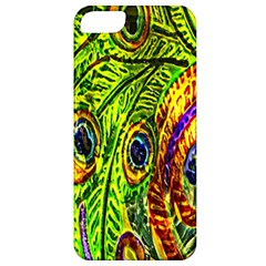 Peacock Feathers Apple Iphone 5 Classic Hardshell Case by Simbadda