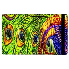 Peacock Feathers Apple Ipad 3/4 Flip Case by Simbadda