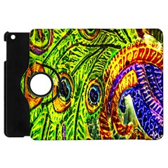 Peacock Feathers Apple Ipad Mini Flip 360 Case by Simbadda