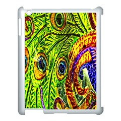 Peacock Feathers Apple Ipad 3/4 Case (white) by Simbadda