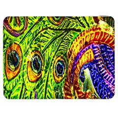Peacock Feathers Samsung Galaxy Tab 7  P1000 Flip Case by Simbadda