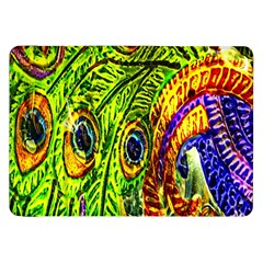 Peacock Feathers Samsung Galaxy Tab 8 9  P7300 Flip Case by Simbadda