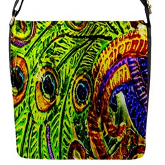Peacock Feathers Flap Messenger Bag (s) by Simbadda
