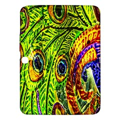Peacock Feathers Samsung Galaxy Tab 3 (10 1 ) P5200 Hardshell Case  by Simbadda