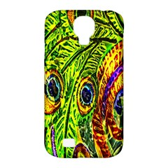 Peacock Feathers Samsung Galaxy S4 Classic Hardshell Case (pc+silicone) by Simbadda