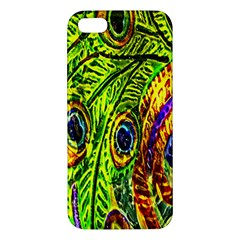 Peacock Feathers Iphone 5s/ Se Premium Hardshell Case by Simbadda