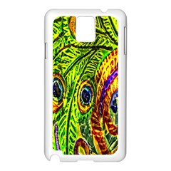 Peacock Feathers Samsung Galaxy Note 3 N9005 Case (white) by Simbadda