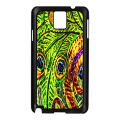 Peacock Feathers Samsung Galaxy Note 3 N9005 Case (black) by Simbadda