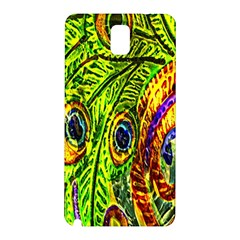 Peacock Feathers Samsung Galaxy Note 3 N9005 Hardshell Back Case by Simbadda