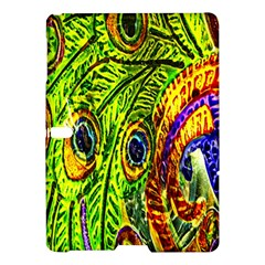 Peacock Feathers Samsung Galaxy Tab S (10 5 ) Hardshell Case  by Simbadda