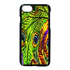 Peacock Feathers Apple Iphone 7 Seamless Case (black) by Simbadda