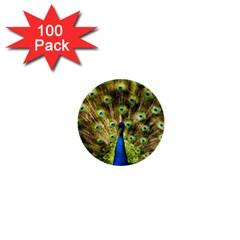 Peacock Bird 1  Mini Buttons (100 Pack)  by Simbadda