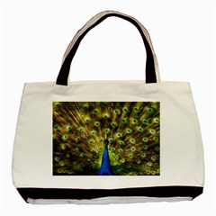 Peacock Bird Basic Tote Bag (two Sides) by Simbadda