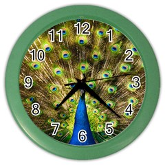 Peacock Bird Color Wall Clocks by Simbadda