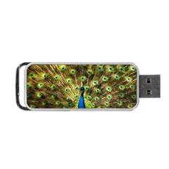 Peacock Bird Portable Usb Flash (one Side) by Simbadda