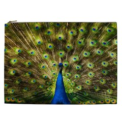 Peacock Bird Cosmetic Bag (xxl)  by Simbadda