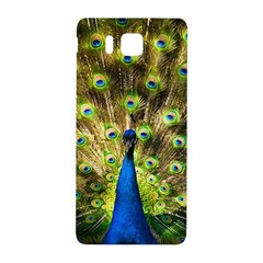 Peacock Bird Samsung Galaxy Alpha Hardshell Back Case by Simbadda