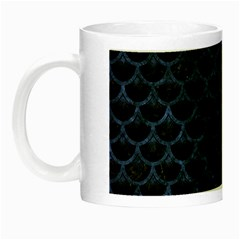 Scales3 Black Marble & Blue Stone Night Luminous Mug by trendistuff