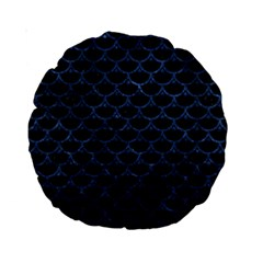 Scales3 Black Marble & Blue Stone Standard 15  Premium Round Cushion  by trendistuff