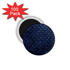 Scales2 Black Marble & Blue Stone (r) 1 75  Magnet (100 Pack)  by trendistuff