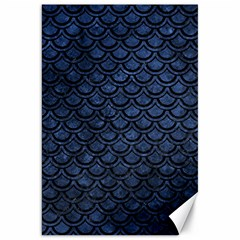 Scales2 Black Marble & Blue Stone (r) Canvas 20  X 30  by trendistuff